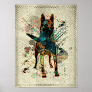 Malinois - Belgian shepherd -Mechelaar -Maligator Poster