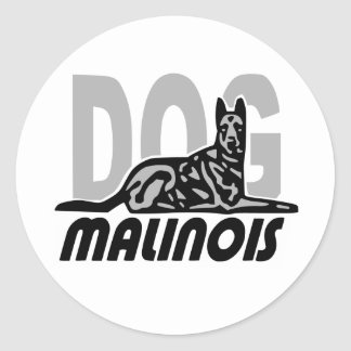 malinois china8 classic round sticker