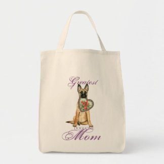 Malinois Heart Mom Tote Bag