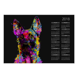 Malinois puppy- Belgian shepherd --Maligator Poster