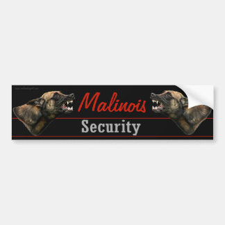 Malinois Security bumper sticker