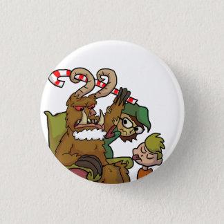 Mall Krampus 1 Inch Round Button