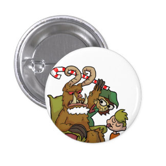 Mall Krampus 1 Inch Round Button
