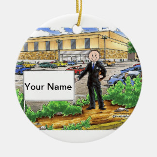 Mall Manager - Male Ceramic Ornament