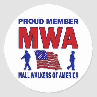 MALL WALKERS OF AMERICA CLASSIC ROUND STICKER