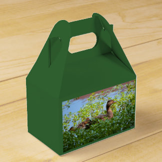 Mallard and Ducklings-Swimming by Shirley Taylor Party Favor Boxes