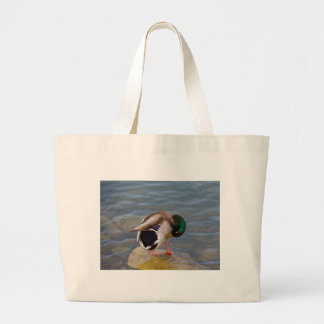 Mallard colors large tote bag