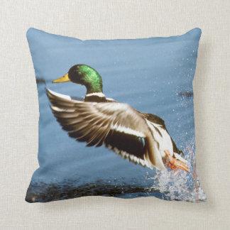 Mallard Drake Duck Throw Pillows