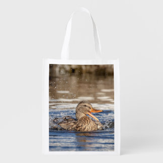Mallard Duck at Downing Park Reusable Grocery Bag