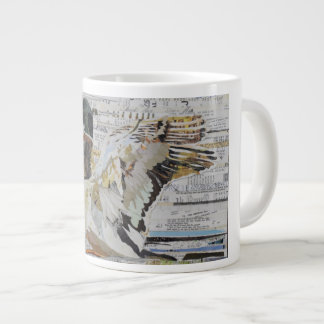 Mallard Duck Collage Coffee Mug by C.E. White