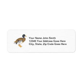 Mallard Duck Custom Personalized Return Address Label