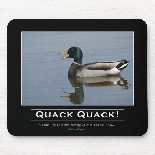 Mallard Duck Demotivational Gifts Mousepads