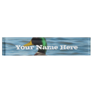 Mallard Duck Desk Nameplate