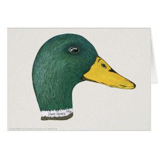 Mallard Duck (Drake), Watercolor Card