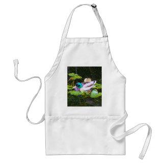 Mallard duck in a pond standard apron