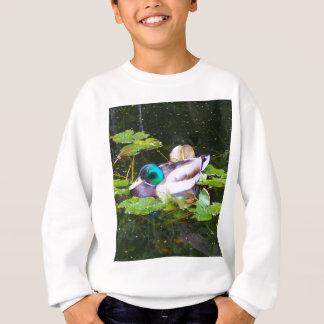 Mallard duck in a pond sweatshirt