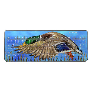 Mallard Duck in Flight Wireless Keyboard