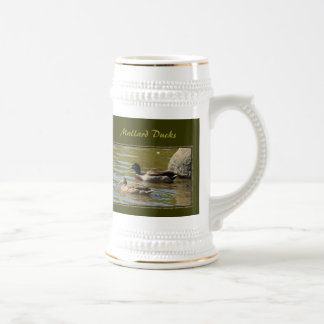 Mallard Duck Pair Beer Stein