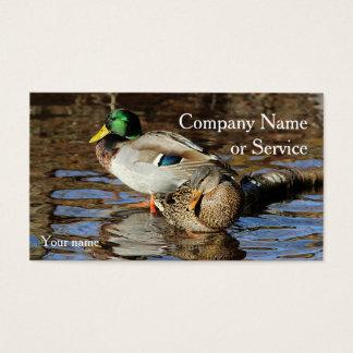 Mallard duck pair business card