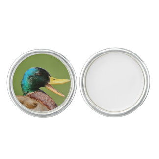 mallard duck portrait cufflinks