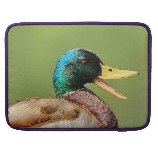 mallard duck portrait sleeve for MacBooks