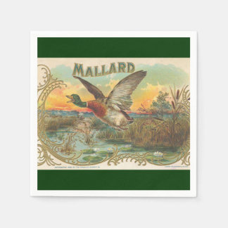 Mallard Duck Vintage ad paper napkins