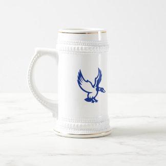 Mallard Duck Wings Landing Side Retro Beer Stein