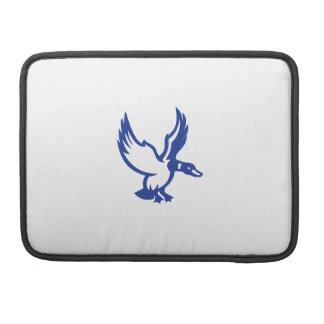 Mallard Duck Wings Landing Side Retro Sleeve For MacBooks