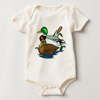 Mallard ducks baby bodysuit
