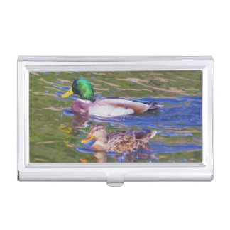 Mallard Ducks Business Card Holder