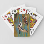 Mallard Ducks Flying Over Pond Playing Cards