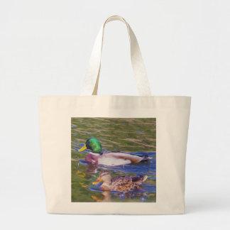 Mallard Ducks Large Tote Bag