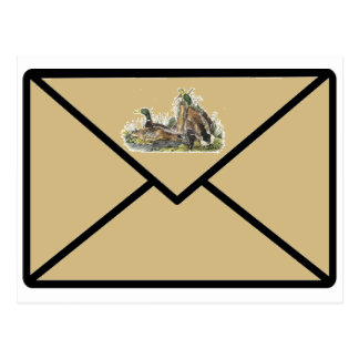 Mallard Ducks Nest Beige Postcard