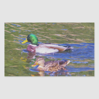 Mallard Ducks Sticker