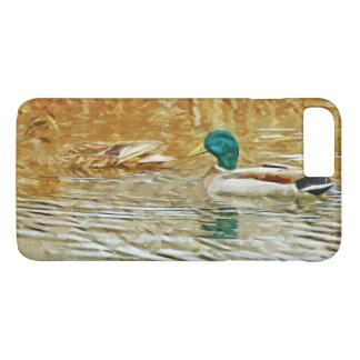 Mallard Ducks Swimming Abstract Impressionism iPhone 7 Plus Case