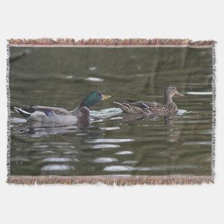 Mallard ducks throw blanket