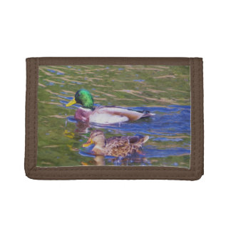 Mallard Ducks Tri-fold Wallets