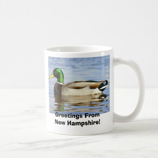 Mallard, Greetings From New Hampshire! Coffee Mug