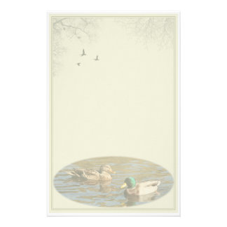 Mallard Pair Custom Stationery