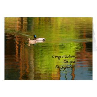 Mallard Pair - Engagement Congratulations Card