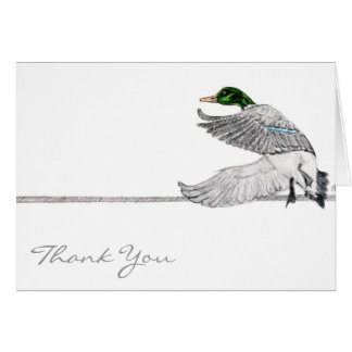 Mallard thank you card