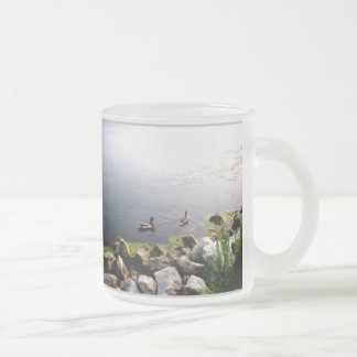 Mallards By The Rocks Frosted Glass Coffee Mug