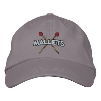 Mallet Sticks Crossed Embroidered Hat