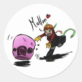 mallon love round sticker