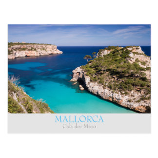 Mallorca - Cala des Moro with text postcard