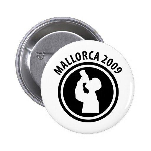 mallorca drunken 2009 icon pinback button