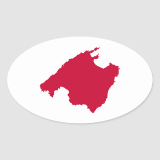 Mallorca map oval sticker