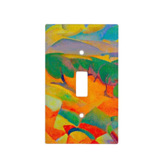 Mallorca Mountains, painting by Leo Gestel Light Switch Cover