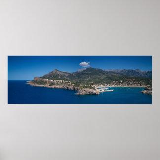 Mallorca - Panorama of Port de Soller Poster