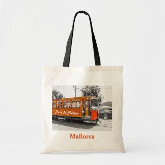 Mallorca Port de Soller Old Tram Souvenir Tote Bag